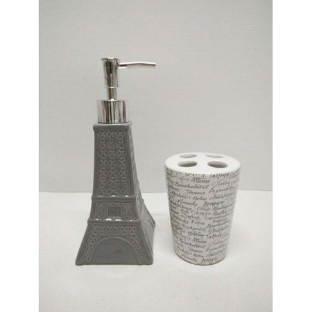 Ebern designs albright novelty paris glamour eiffel tower for Eiffel tower bathroom accessories
