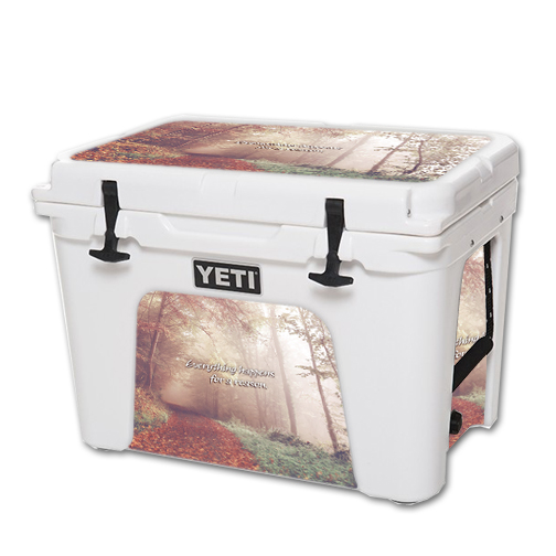MightySkins Protective Vinyl Skin Decal for YETI Tundra 50 qt Cooler wrap cover sticker skins Happens For A Reason