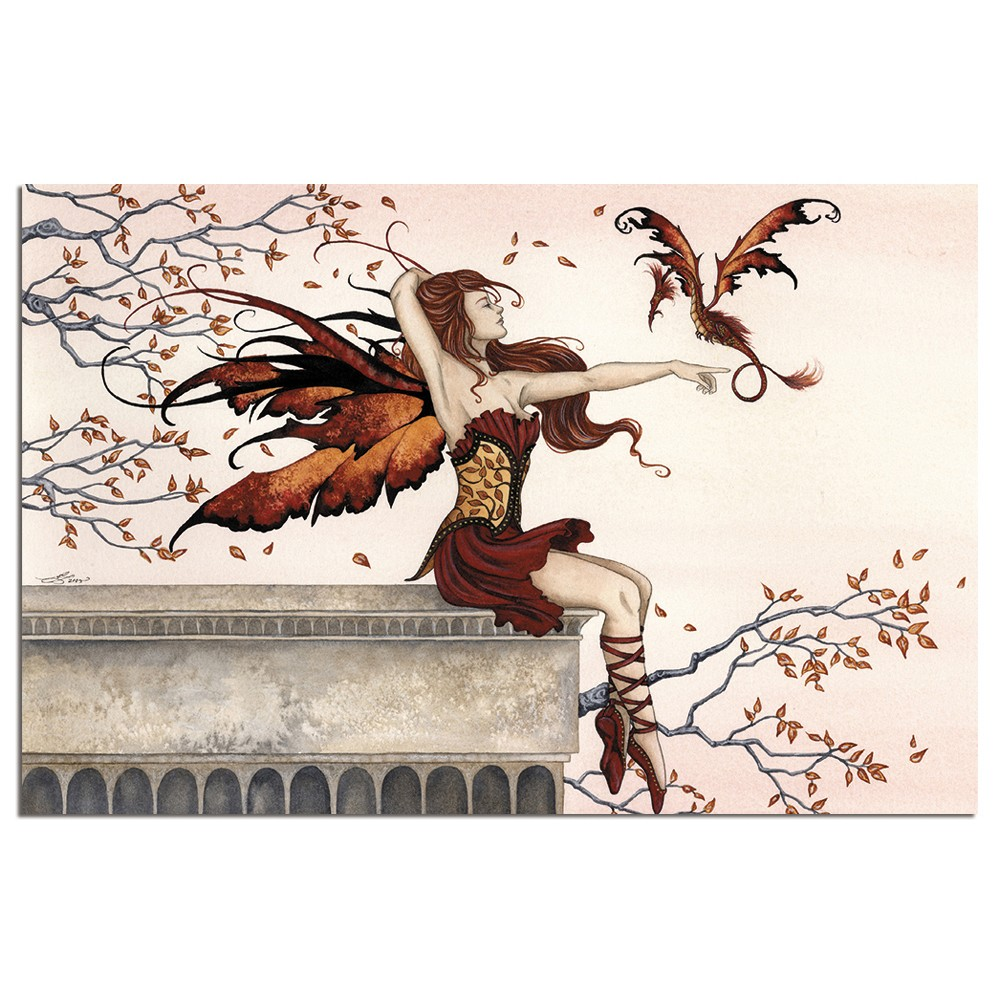 Tree-Free Greetings Touch of Enchantment Fairy econotes Blank Note Cards-FS64597