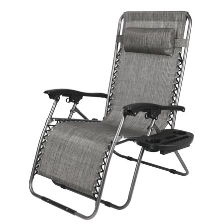 Ktaxon Oversized Zero Gravity Chair Outdoor Adjustable Folding Office Reclining Chairs with Cup Holder and Headrest ()