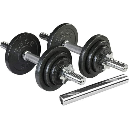 TELK Adjustable Dumbbells 45 lbs, Hand Weights for Home Gym