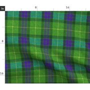 Green And Blue Plaid Classic Tartan Cosplay Fabric Printed by Spoonflower BTY