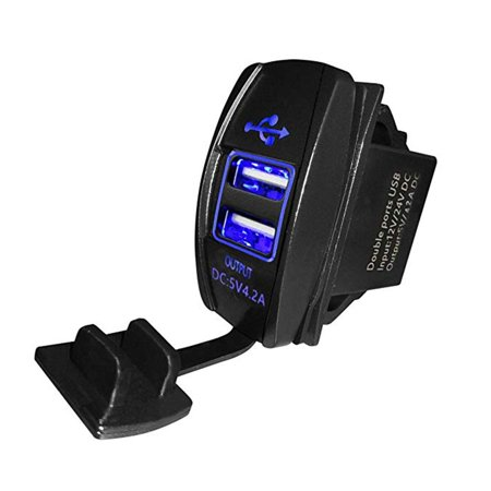12-24V Dual USB Car Charger 5V 3.1A Universal Auto Mobile Phone Charger Replacement for Auto Motorcycle Electric Car