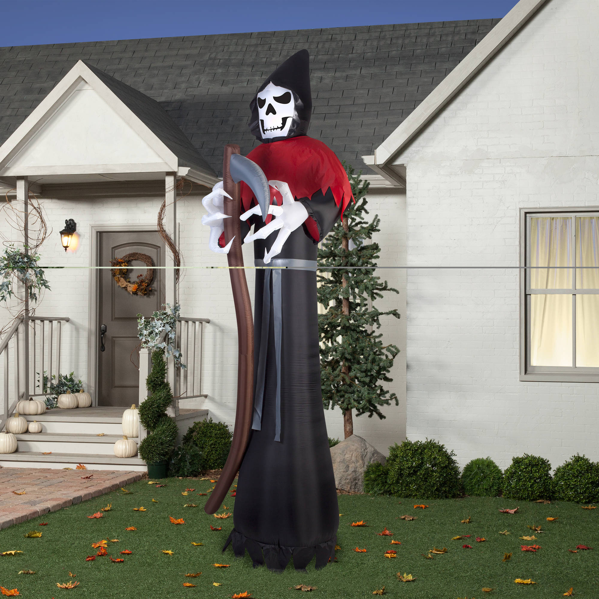 gemmy airblown inflatable 12 x 4 giant grim reaper halloween decoration walmartcom - Giant Halloween Decorations