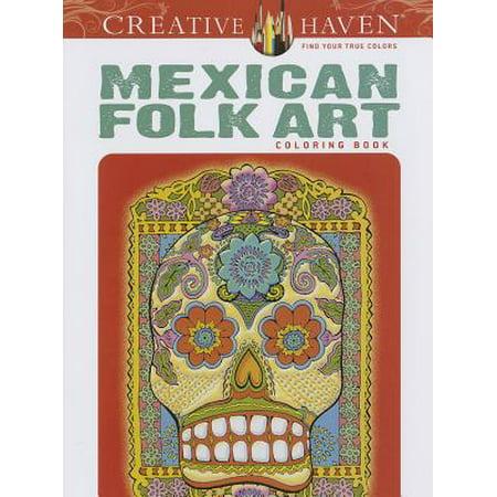 Mask Mexican Folk Art (Creative Haven Mexican Folk Art Coloring)