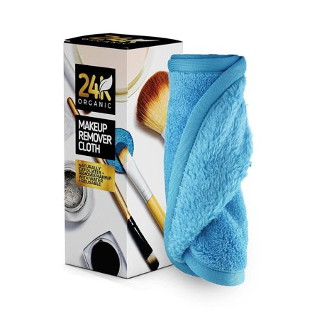 Makeup Remover Cloth by 24K Organic- Chemical Free Cleansing Towel (The Best Organic Face Wash)