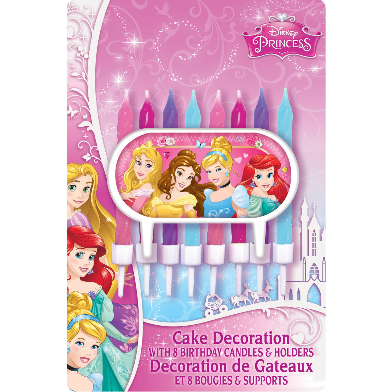 Disney Princess Cake Topper And Birthday Candles Walmart