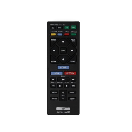 Replacement Sony RMT-B126A Blu-ray Disc Player Remote Control for Sony BDP-BX120 Blu-ray Disc Player - image 1 de 4