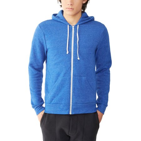 Alternative Men's Rocky Eco-Fleece Zip Hoodie, Eco True Pacific Blue, Medium Off Mens Clothing