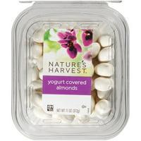 Nature's Harvest Yogurt Almonds, 11 oz