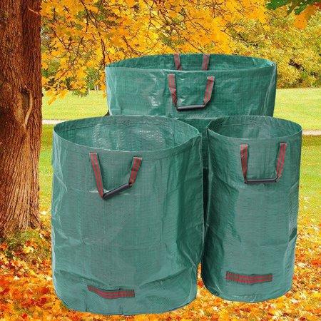 Moaere Reusable Waterproof Portable Duty Garden Waste Bag Refuse Sack Leaves Grass Bin
