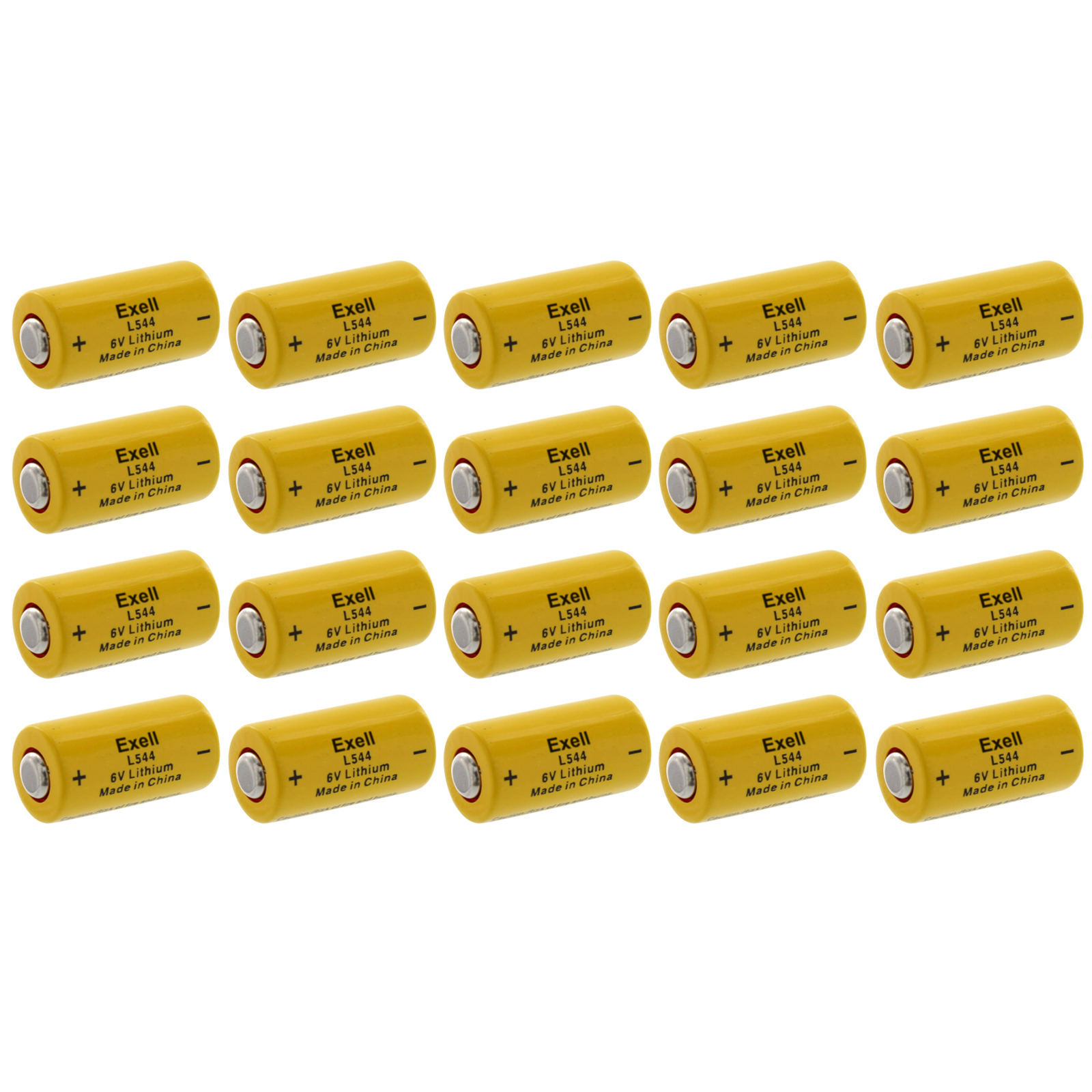 20x Exell L544 6V Lithium Battery Replaces K28L V28PXL 2C...
