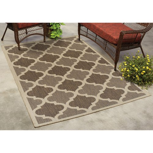 Mainstays Trellis Indoor/Outdoor Rug - Walmart.com