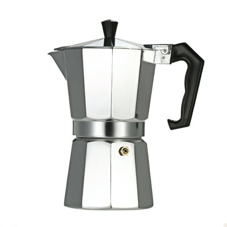 12-Cup Aluminum Espresso Percolator Coffee Stovetop Maker Mocha Pot for Use on Induction