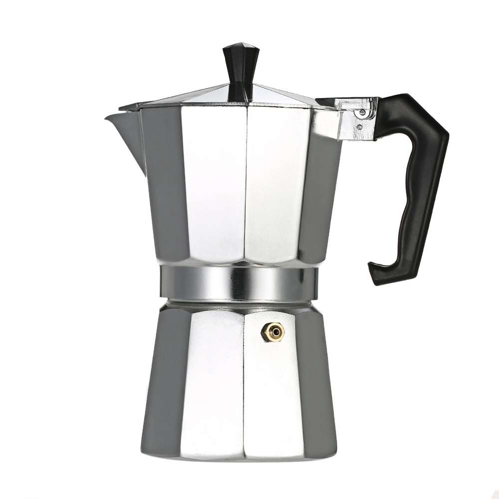 12-Cup Aluminum Espresso Percolator Coffee Stovetop Maker Mocha Pot for Use on Induction Cooker