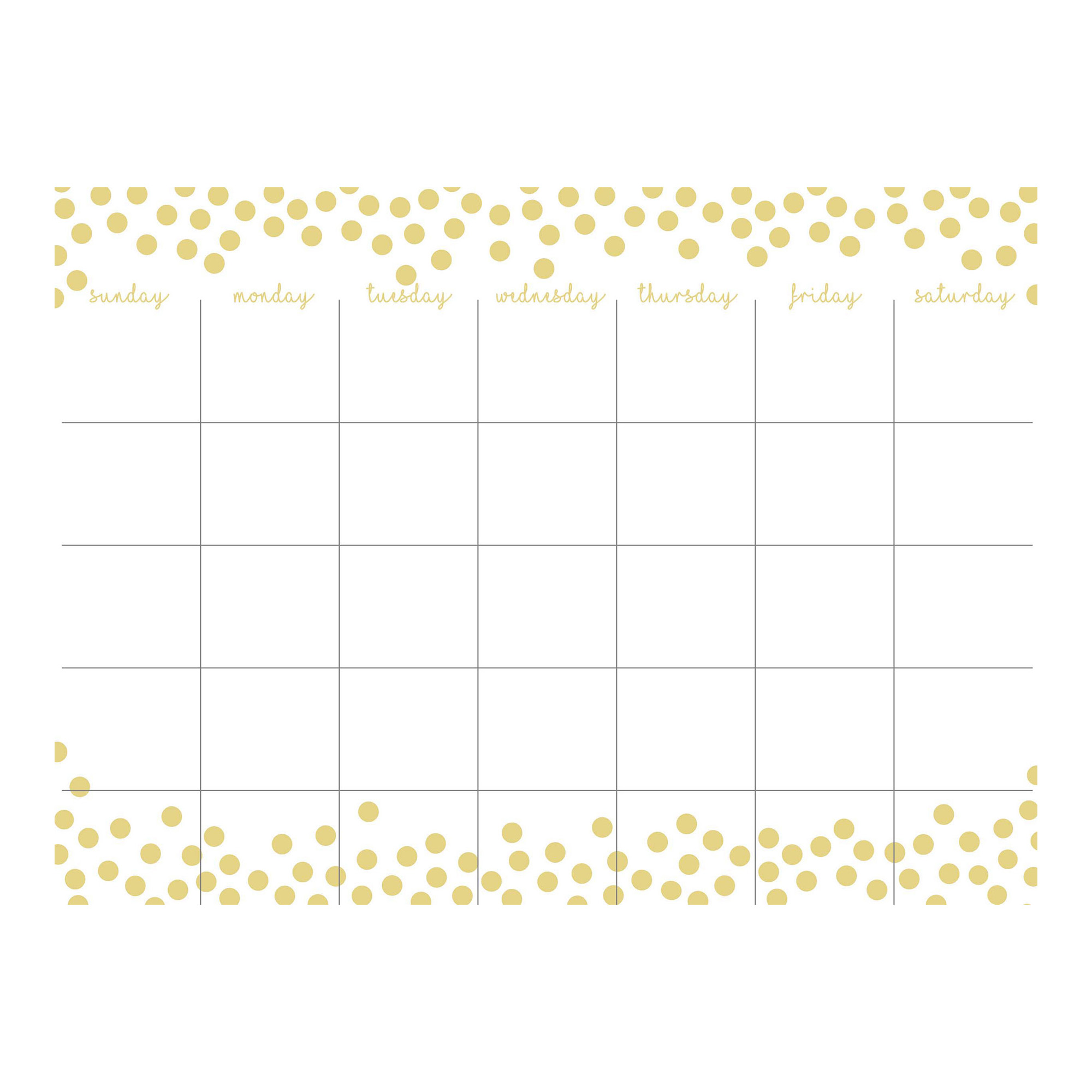Gold Confetti Monthly Calendar and Message Board Combo by WallPops