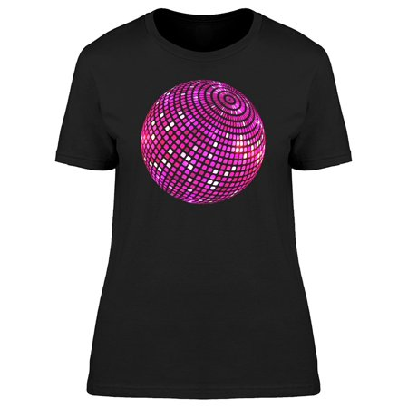 Cool Pink Disco Ball Tee Women's -Image by Shutterstock - Seventies Disco Clothing