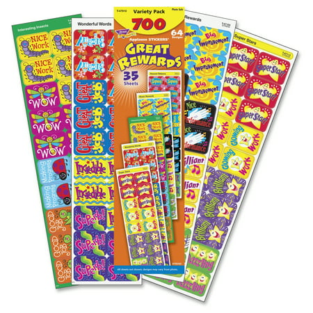 Mini Reward Stickers - Trend, TEPT47910, Great Rewards Applause Stickers Variety Pack, 1 / Pack, Multicolor
