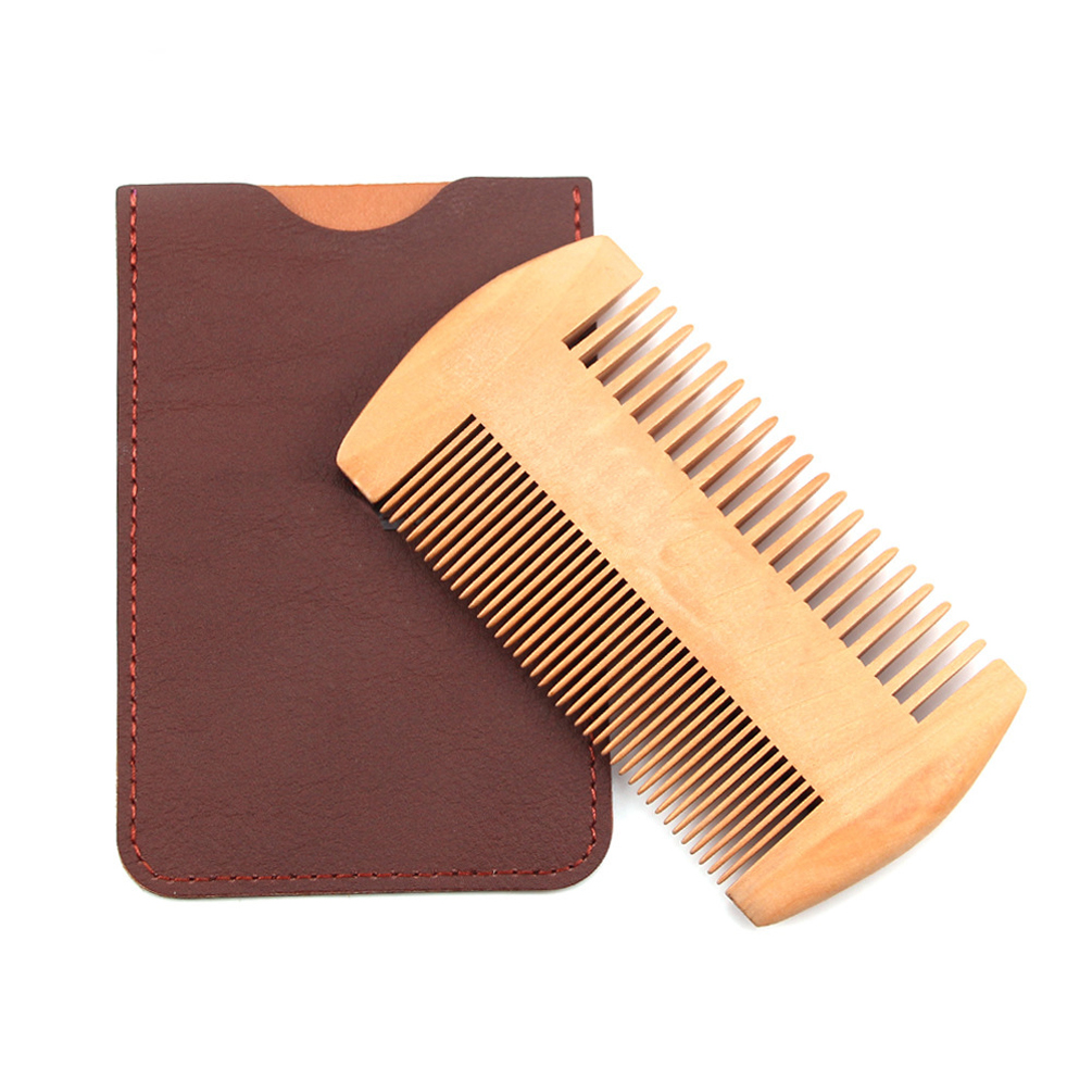 Wooden Beard Comb Pear Wood Double Sided Comb No Noise Nursing Care Suitable For All Kinds Of Beards Hair