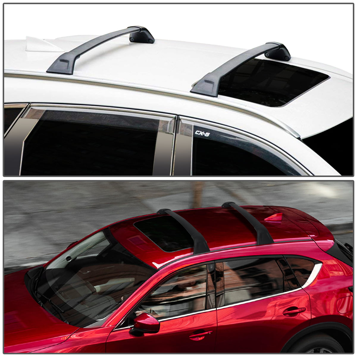 MOSTPLUS Roof Rack Cross Bar Rail Compatible with 2017 2018 Mazda CX5 CX-5 Cargo Racks Rooftop Luggage Canoe Kayak Carrier Rack