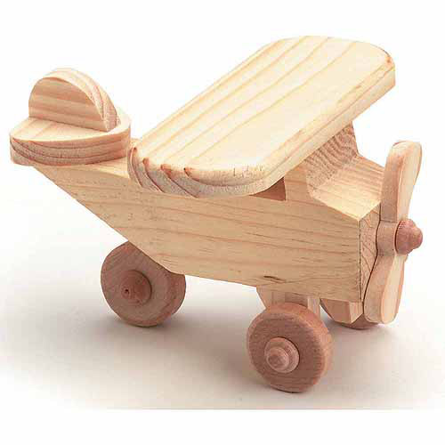 "Darice Wood Toy Kit, Airplane, 4.125"" x 2.375"""