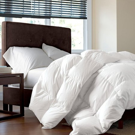 LUXURIOUS KING / CALIFORNIA KING Size Siberian GOOSE DOWN Comforter, 1200 Thread Count 100% Egyptian Cotton 750FP, 50oz, 1200TC, White - Down On The Count