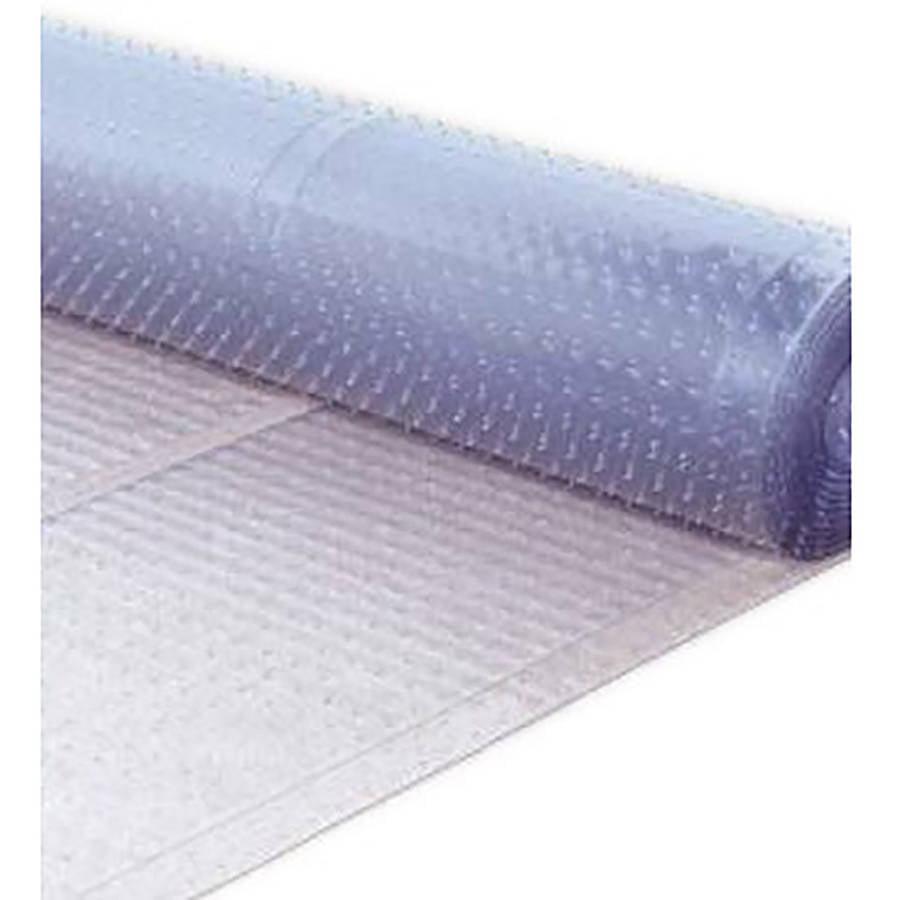 Berrnour Home Multi-Grip Clear Ribbed Runner Rug Plastic Carpet Protector Mat