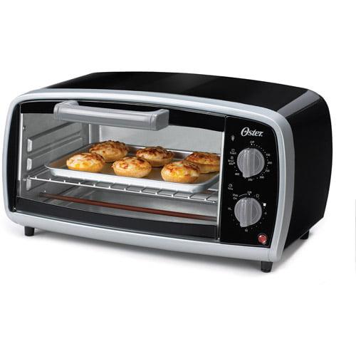 Oster 4-Slice Toaster Oven, Black