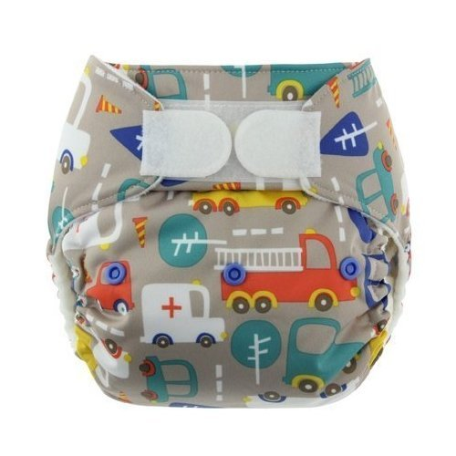 One Size Snap Pocket Diapers (Petals), Fits most babies from 10-35 pounds By Blueberry Ship from US