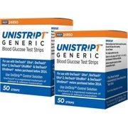 UniStrip Glucose Test Strips 100ct - For use with OneTouch Ultra Meters