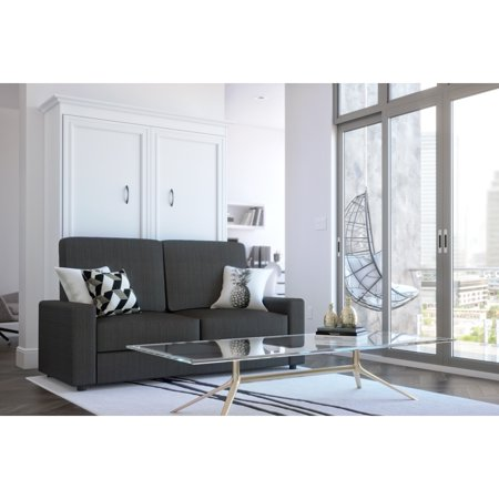 Bestar Versatile 2-Piece Full Wall Bed and Sofa Set - White &