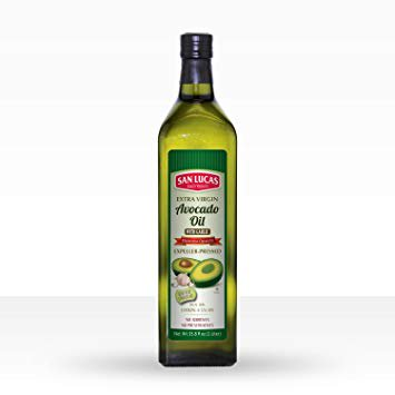- San Lucas 100% Pure Avocado Oil with Garlic Oil Kosher 1 Liter (33.8 Fl Oz)