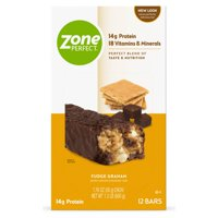 ZonePerfect Protein Bars, Fudge Graham, 14g of Protein, Nutrition Bars With Vitamins & Minerals, Great Taste Guaranteed, 12 Bars