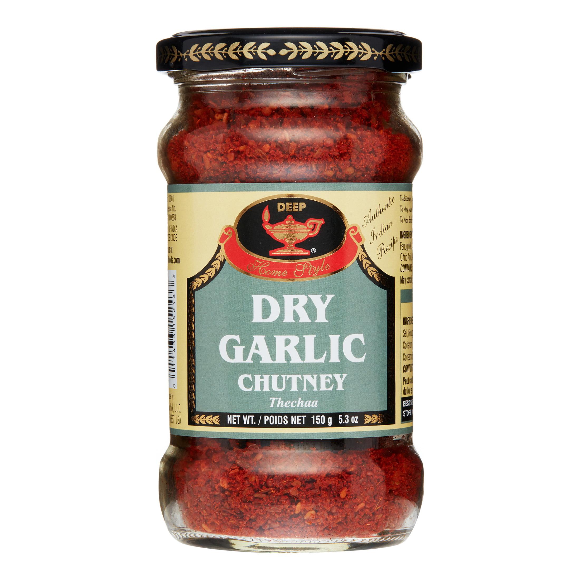 Deep Dry Garlic Chutney, 5.3 Oz by Chetak New York LLC