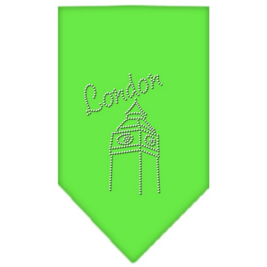 London Rhinestone Bandana Lime Green Small