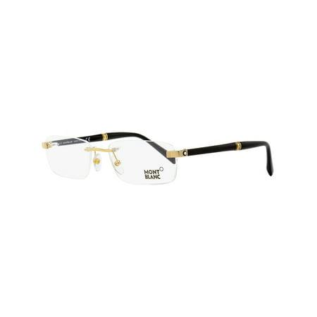 Montblanc Rimless Eyeglasses MB9101 E69 Yellow Gold/Black 53mm