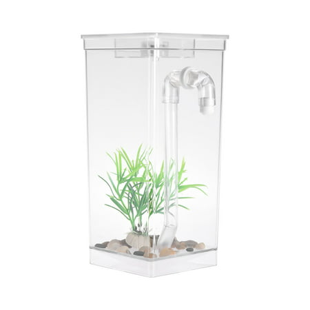 Self Cleaning Small Fish Tank Bowl Convenient Acrylic Desk Aquarium for Office Home Creative Gifts for Children - image 3 of 7