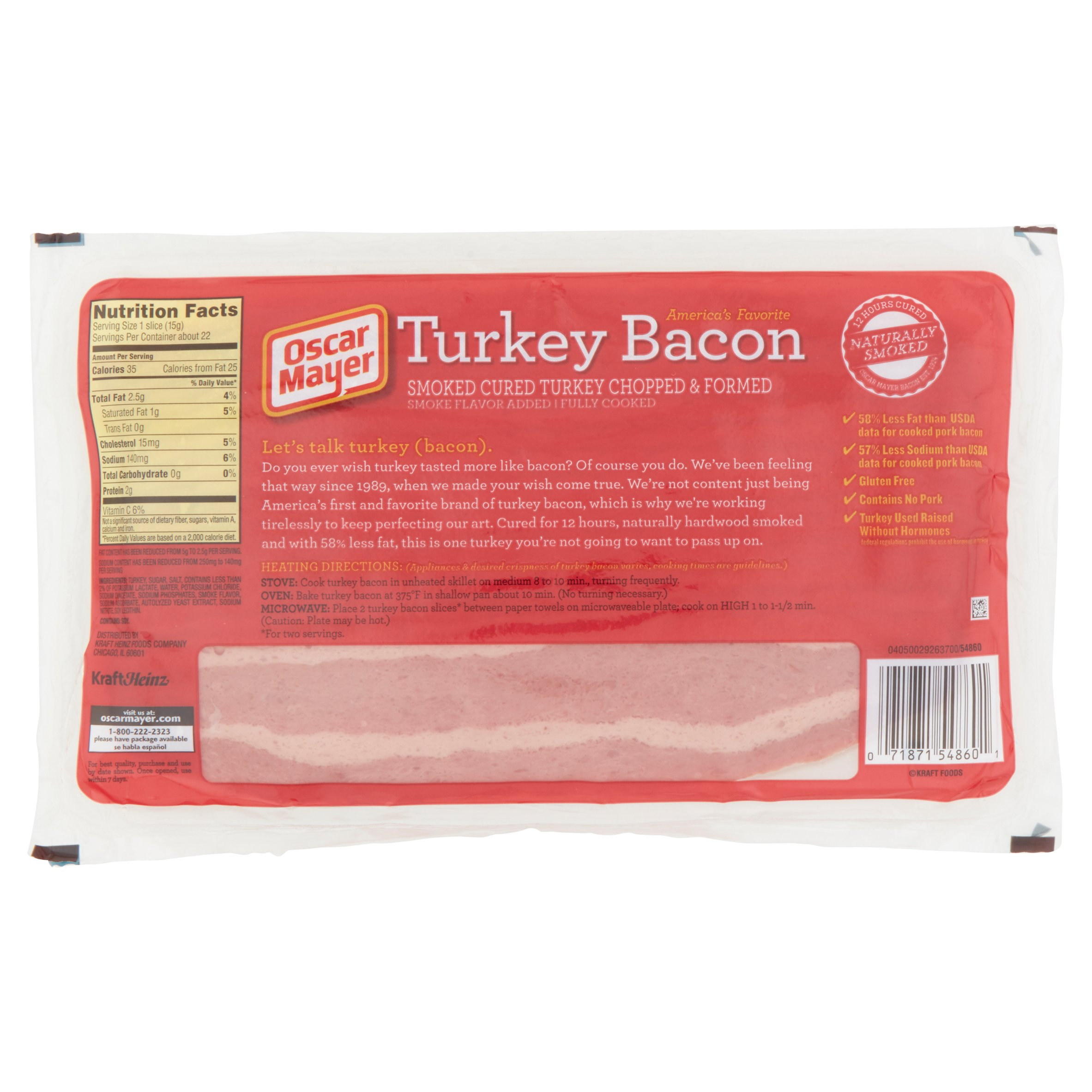 Breakfast Meat as well Turkey Bacon Nutrition Facts Oscar Mayer in addition Fully Cooked Bacon Nutrition furthermore Process likewise 44079 Oscar Mayer Bacon Lower Sodium Bacon 16 Oz. on oscar mayer turkey bacon