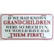 If We Had Known Grandchildren Plate