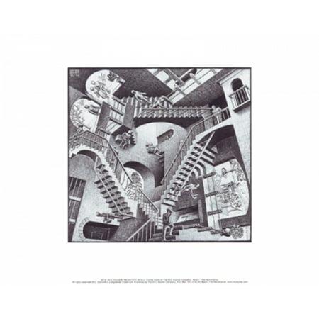 Relativity Poster Print by MC Escher (14 x 11)