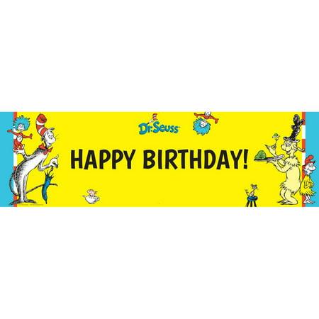 Dr. Seuss Birthday Banner, Large