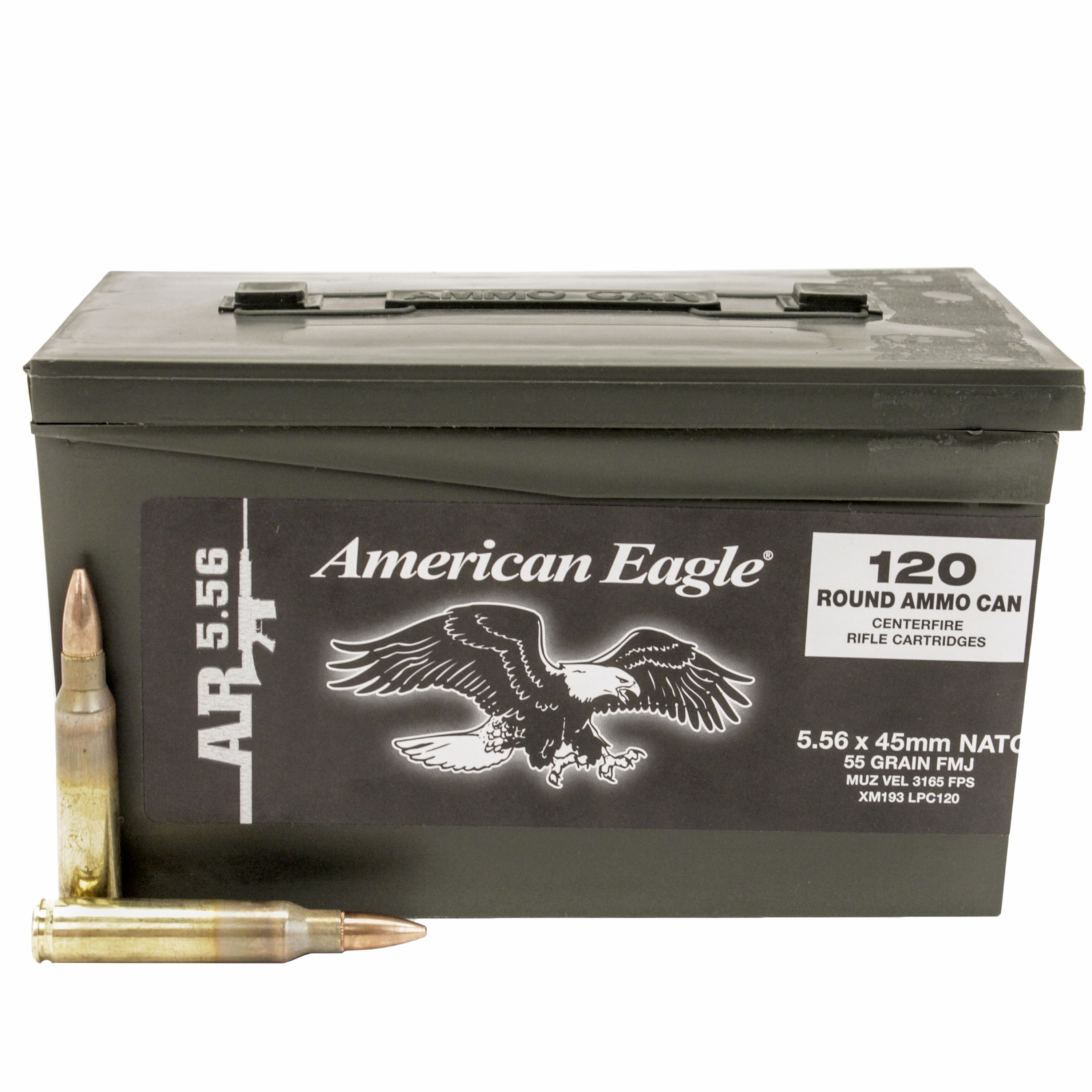 Federal Ammunition 5.56mm 55gr Ball M193 Mini Ammo Can