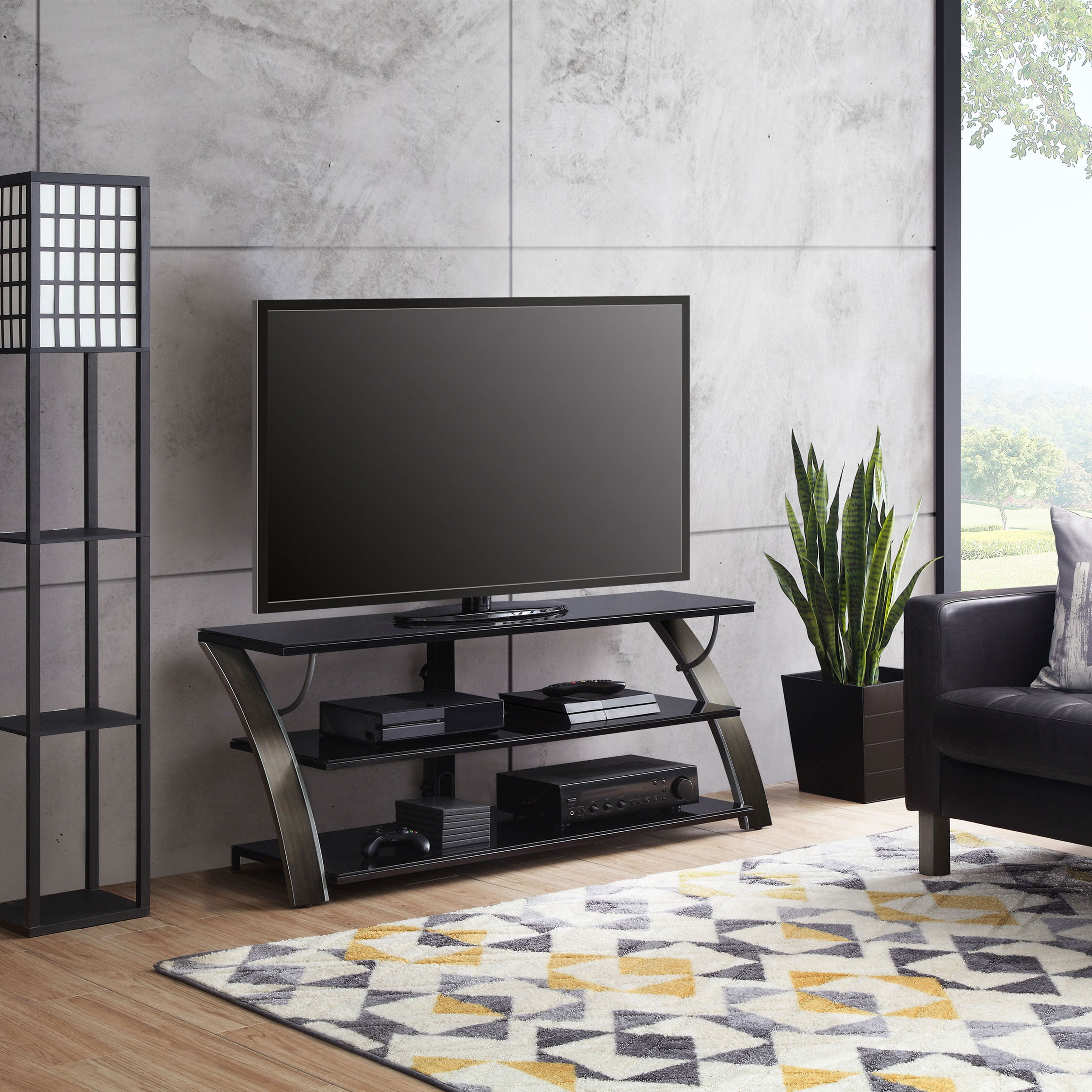 Whalen Payton 3 In 1 Flat Panel Tv Stand For Tvs Up To 65 Multiple Finishes Available Walmart Com Walmart Com