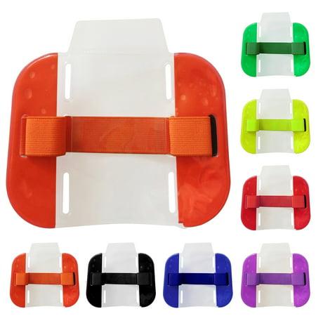 Armband Id Holder - 2pcs Transparent Tactical ID Arm Band Holder Security ID Badge Card Doorman Armband