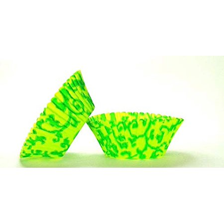 50pc Vine Design - Green / Lime Green Standard Size Cupcake Baking Cups Liners Wrappers