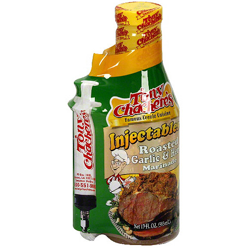 Tony Chachere's Famous Creole Cuisine Roasted Garlic & Herb Injectables Marinade, 17 oz (Pack of 6)