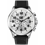 Men's CAT Caterpillar Operator Black Leather Strap Watch PU14934212