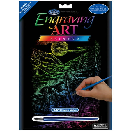 "Rainbow Foil Engraving Art Kit, 8"" x 10"""