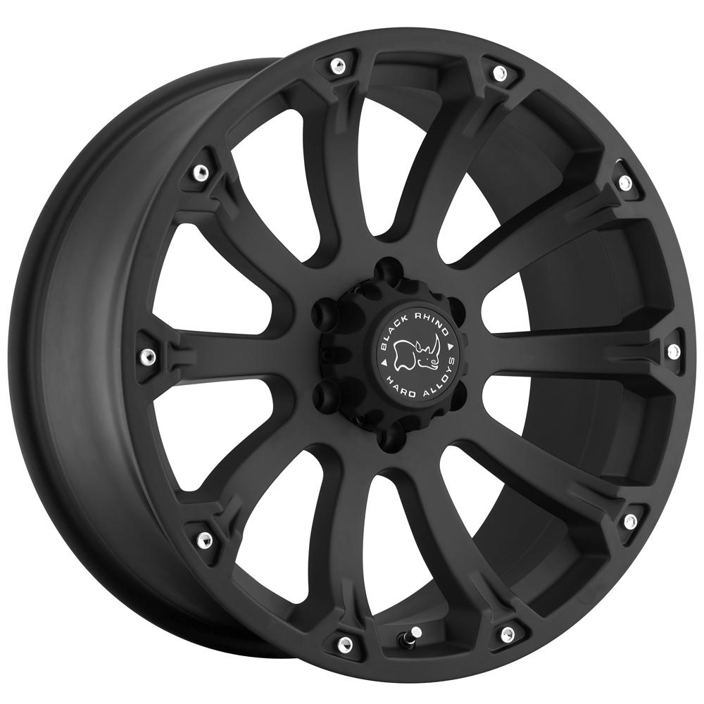 "17"" Inch Black Rhino Sidewinder 17x9 5x5.5"" +0mm Matte Black Wheel Rim"