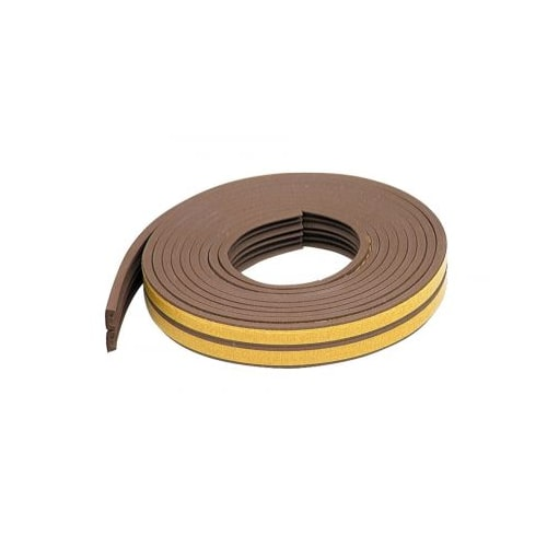 M-D Products 02592 17' Brown Extreme Temperature K-Profile Weather Strip